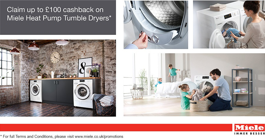 Miele Up to 100 GBP off Heat Pump Tumble Dryers